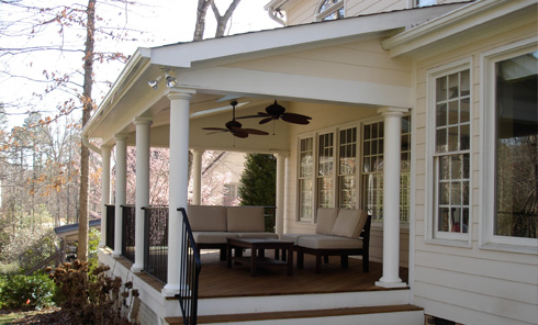 Image gallery open back porch designs Open porches